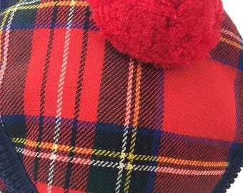660692d87b6 Vintage men s red Stewart Tartan plaid golf hat