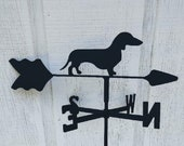 The Lazy Scroll Dachshund Roof Mounted Weathervane Black Wrought Iron Look