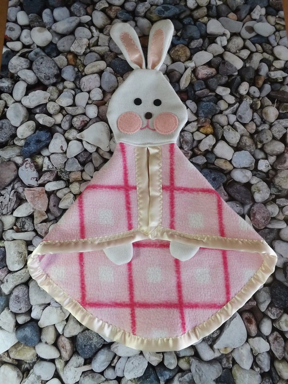Fisher Price like Pink Bunny Security Blanket  Lovey  Puppet