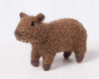 Capybara Figurine, Capy art, Capybaras gift, Carpincho figurine,  Needle felted Capybara art, Felted animals, Needle felted wool animals