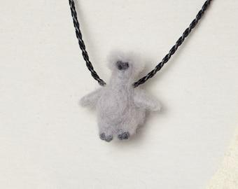 Silkie chicken necklace, Silkie chicken pendant, Felted silkie chicken gifts, Silky chicken