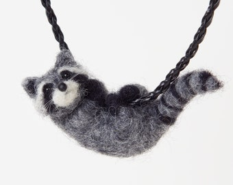 Raccoon necklace, Raccoon pendant, Raccoon lover gift, Cute racoon, Raccoon gifts,  Funny raccoon gift for her, Nature lover gift
