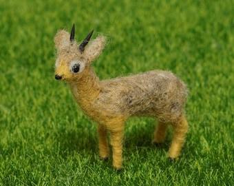 Dik dik figurine, Felted animals, Cute antelope gift for her
