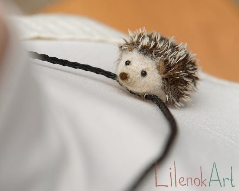 Hedgehog necklace hedgehog pendant Hedgie necklace cute image 0