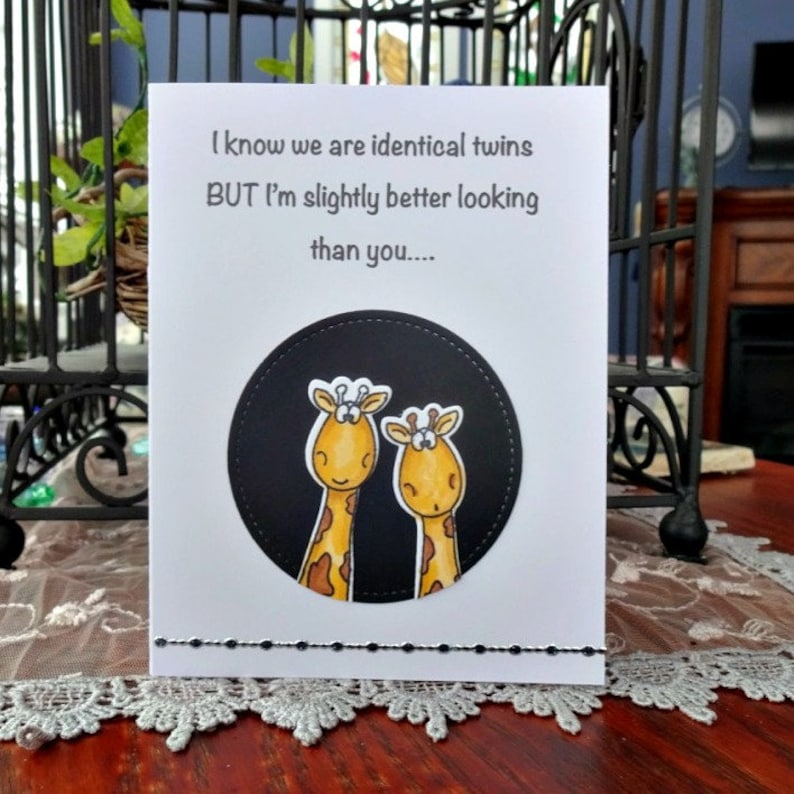 Twin Birthday Card Funny For Sister Brother Humor
