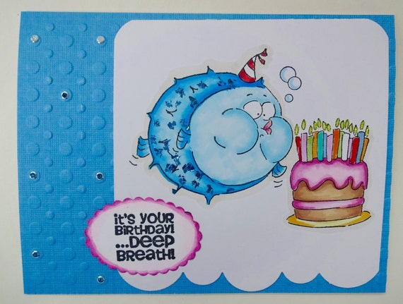 Big Birthday Card For The Older Cake And Candles Make A Etsy