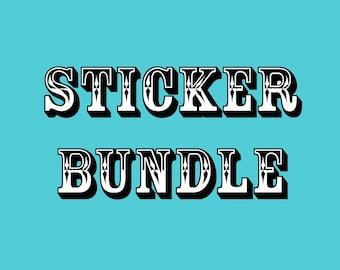 Sticker Bundle, Stickers, Vinyl Stickers, Die-cut Stickers