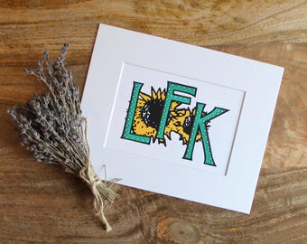 Lfk etsy lfk print lawrence kansas sunflowers ku university of kansas art print m4hsunfo