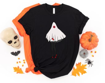 Vampire Ghost Pin Up T-shirt, Halloween, Ghost, Vampire, Tshirt, Apparel