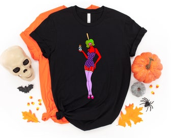 Candy Apple Pin Up T-shirt, Halloween, Candy Apple, Tshirt, Apparel