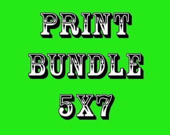 Print Bundle 5x7, Prints, Fine Art Prints, Art Prints