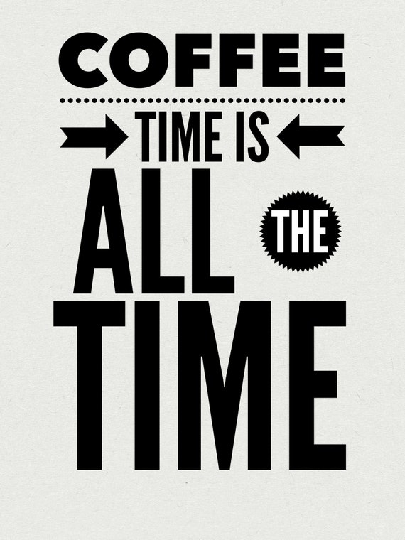 printable wall art quote coffee quote