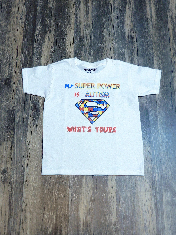 Autism Super Power Shirts Childrens T Shirts Etsy