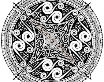 Mandala Print, Mandala Art, Fine Art, Geometric Art, Sacred Geometry.