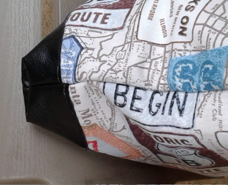 Travel tote Bag Weekender tote Canvas Tote Bag, 16w x 16t x 2d Tote Bag pursesandbags Shoulder Bag XLTote Bag US 66 Trip Tote Bag