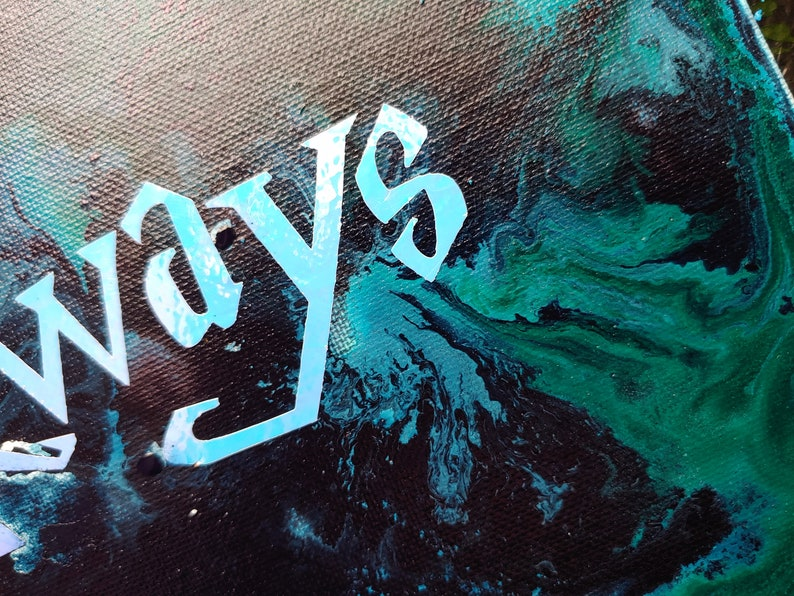 Harry Potter Dealthy Hallows Always abstract inspired painting