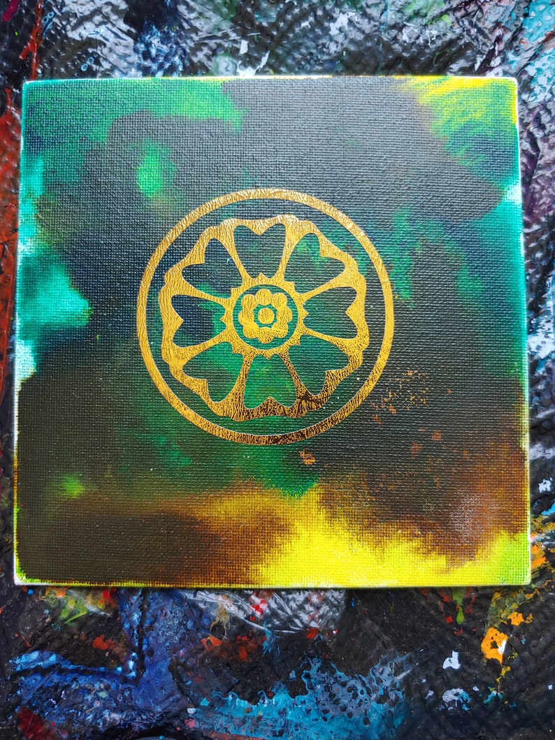 Avatar The Last Airbender White Lotus Inspired abstract painting