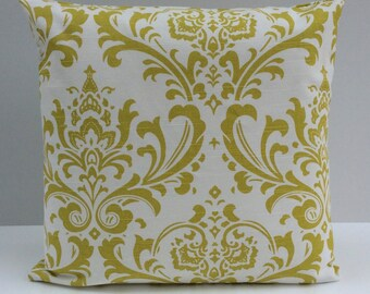 Lime Green and White Pillow, Throw Pillow Cover, Decorative Pillow Cover, Cushion Cover, Pillowcase, Accent Pillow, Toss Pillow, Home Decor