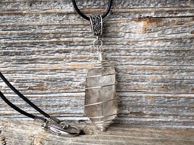 Smokey quartz, smokey quartz crystal, quartz pendant, crystal quartz,  smokey quartz stone, crystal cage necklace, healing crystal, chakra
