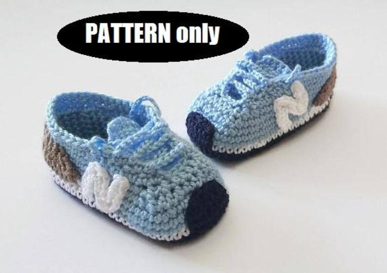 1c55b314b PATRÓN de patucos o zapatillas estilo NEW BALANCE de bebé a
