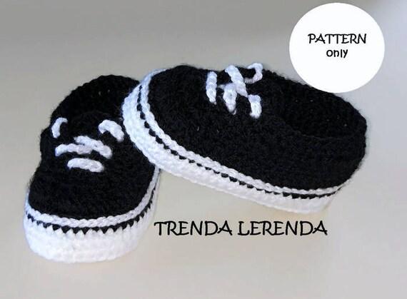 Crochet Baby Scarpe Crochet Vans Crochet Baby Vans Baby Vans Crochet Baby Sneakers Regalo Bambino