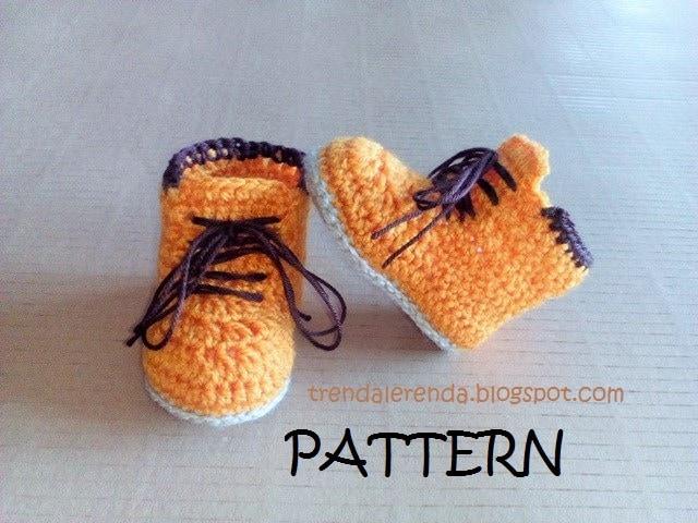 Häkelmuster Babyschuhe Timber Stil. Crochet Booties. PDF | Etsy