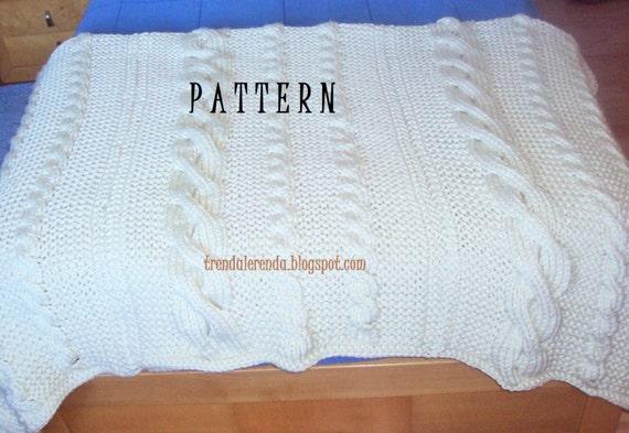 Muster-Decke der Zöpfe geflochten mit zwei Nadeln. Download | Etsy
