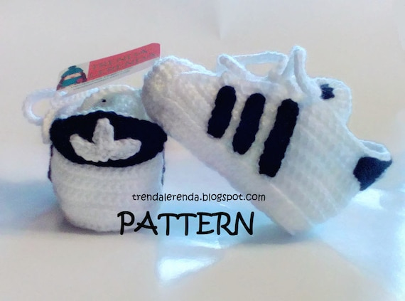 Adidas Superstar Pattern Crochet Baby In 3 Different Sizes Etsy