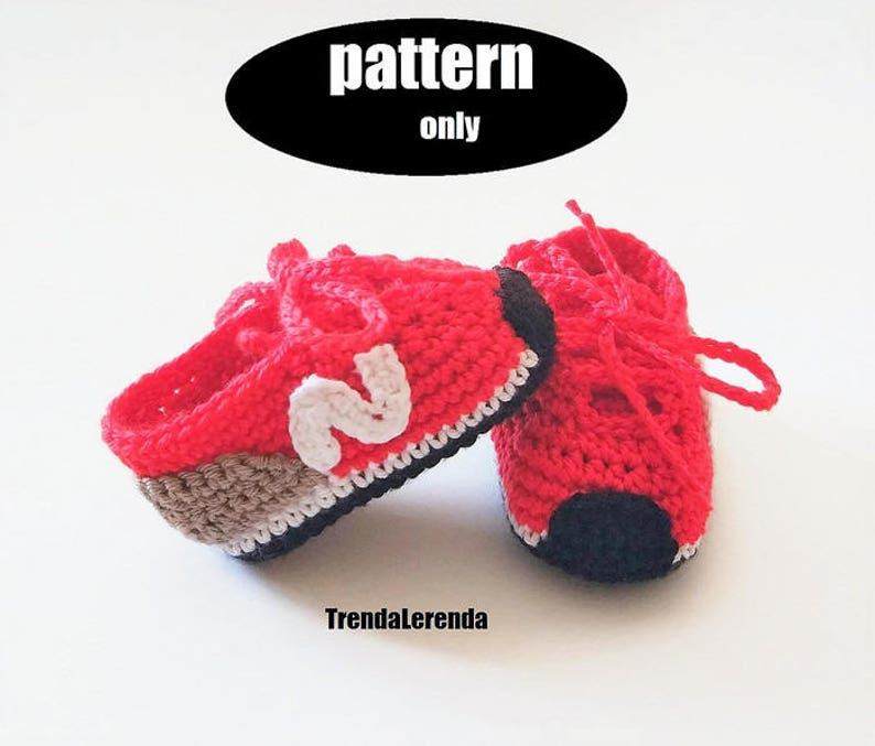 fb75233dd72 NEW BALANCE style crochet baby booties PATTERN. Crochet baby