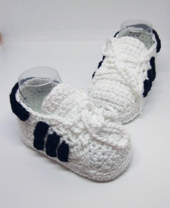 PATRÓN renovado de ganchillo Adidas Superstar de bebé en 3 | Etsy