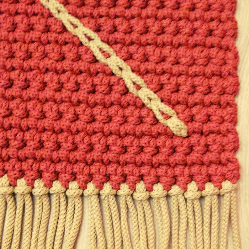 Rectangular crochet rug PDF pattern in Spanish and English step by step XL crochet with 5 mm cord. Aladino crochet rug