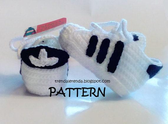 Adidas Superstar Muster Häkeln Baby In 3 Verschiedenen Größen Etsy