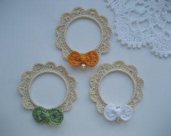 Crochet frames (3pcs),Crochet Frame, Picture Frames, Wall Frames, Nursery Wall Hangings, Nursery decor, New Baby gift, Kids Room Decor