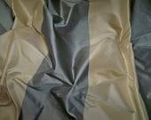 PINDLER PINDLER KOVENTRY Stripes Silk Taffeta Fabric 10 Yards Cream Steel (Blue Gray)