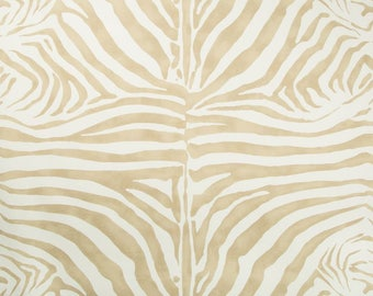 LEE JOFA KRAVET Zebra Cotton Linen Fabric 10 Yards Desert Beige