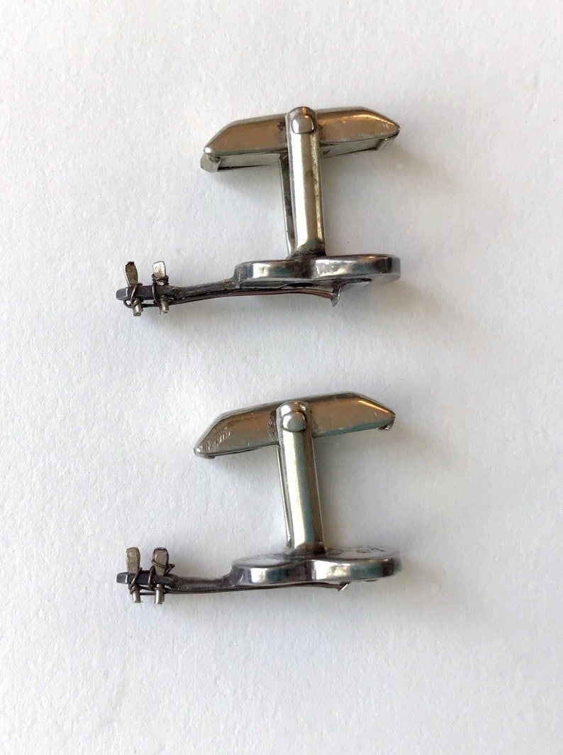 Vintage Sterling Silver Guitar with Copper Strings Man or Woman CufflLinks Maker Marks