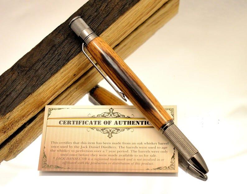 Whiskey Barrel Pen made from Jack Daniels Barrel Wood Whiskey image 0