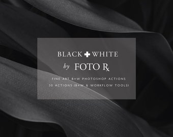 Fine Art Black & White Photoshop Actions