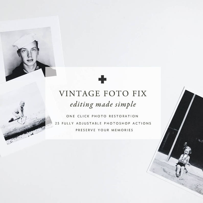 VINTAGE FOTO FIX Photoshop Actions to quickly retouch  image 0