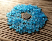 5-10mm very tiny blue tumbled glass sea glass blue glass gems jewelry stones jewelry making supply glass brightest sky blue