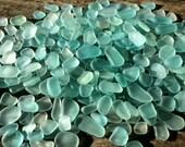 10-15mm tiny seafoam teal green sea glass blue sea glass bulk jewelry making tumble glass sea glass SD
