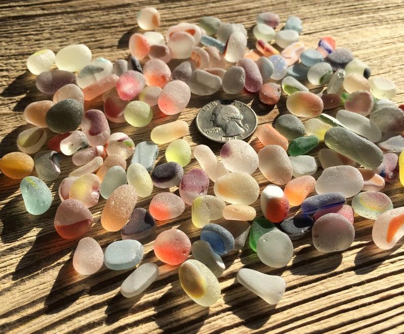 10 16mm Tumble Sea Glass Stones Colors Mix Sea Glass Bulk Etsy