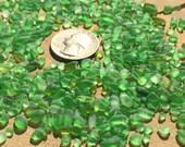 2-4mm super tiny green mini glass tiny sea glass chips jewelry making supply green