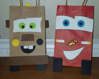 10 Cars Party Favor Bags