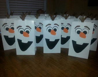 10 Olaf Party Favor Bags