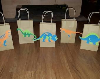15 Dinosaur Party Favor Bags