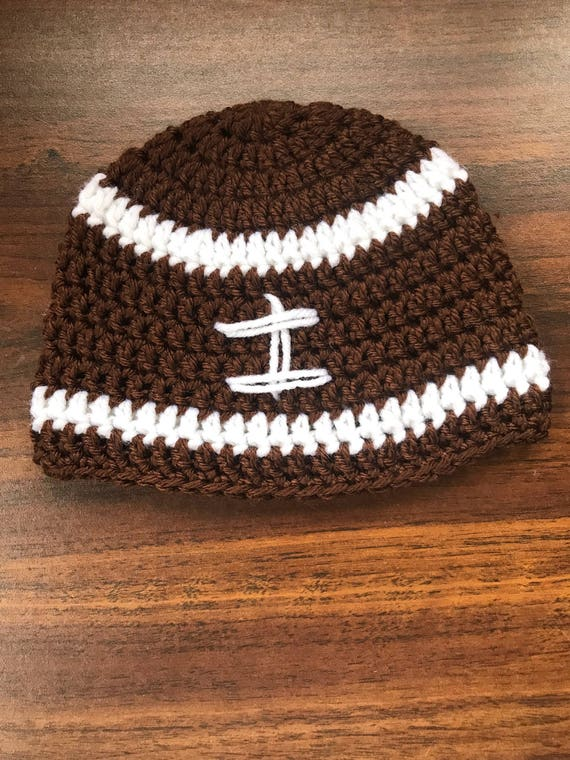 Crochet Football Hat 3 To 6 Month Size Etsy