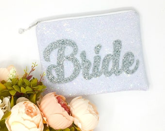 d0bad789757e Bride Bag Bride Clutch Bag Bridal Clutch Bag Wedding gift for Bride Sparkly  Glitter Bride Bag Personalised Bride Clutch Bag Wedding day