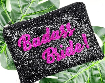 Hen Do clutch bag, Badass Bride clutch, Rebel Bride, Alternative Bride, Modern Bride clutch bag accessory, Gift for Bride, Wedding day bag