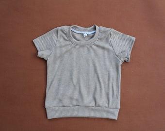 Tan Ribbed T-shirt